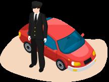 водитьль и машина